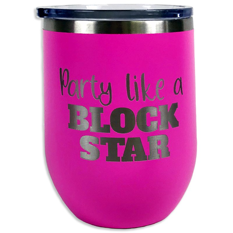 Tumbler Pink Party Like A Block Star