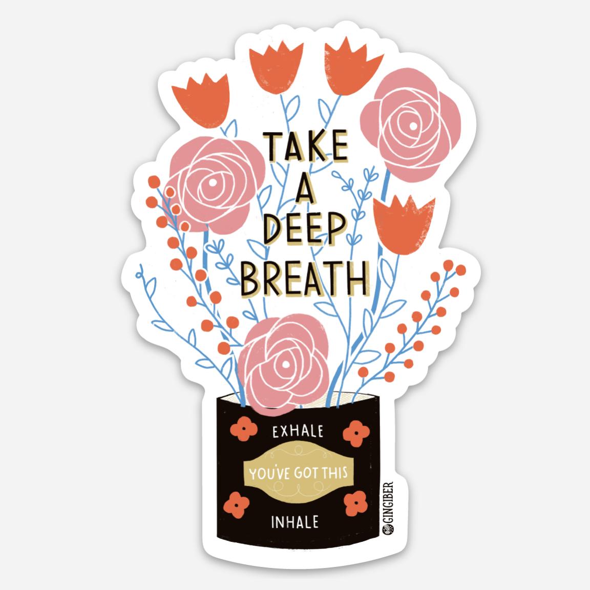 Gingiber - Sticker Sheet Deep Breath