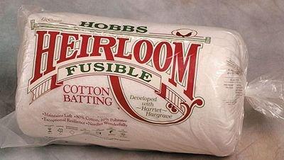Hobbs Heirloom 80/20 Cotton Batting - FUSIBLE
