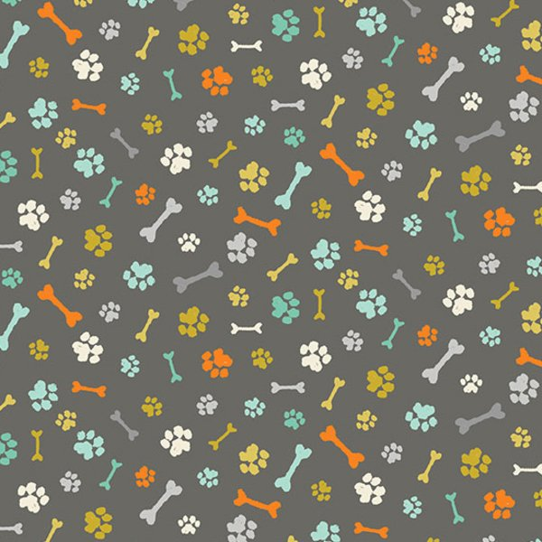 Makower UK A Walk in the Park (Paws in Grey)