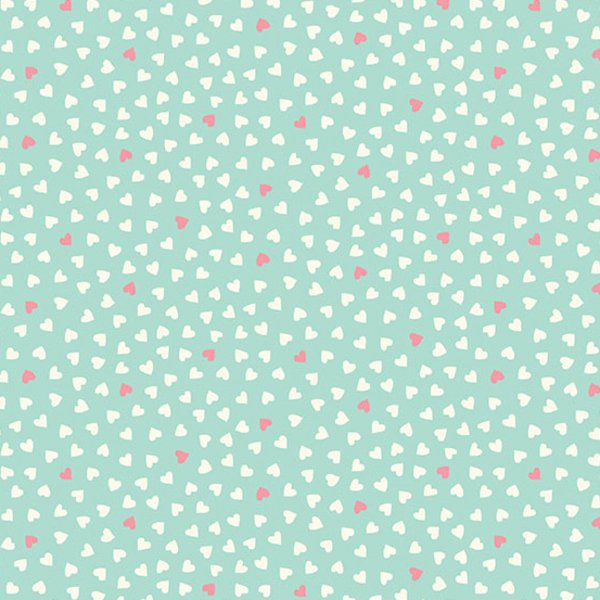 Makower UK A Walk in the Park (Hearts in Teal)
