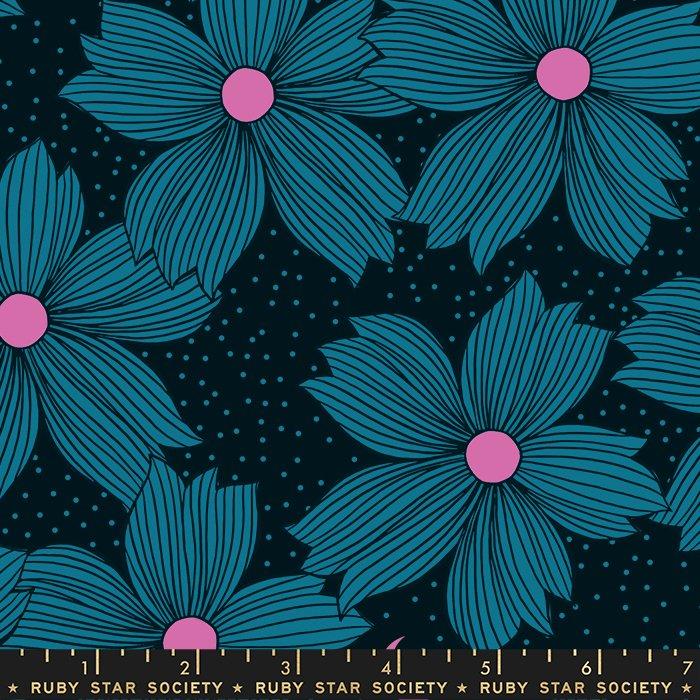 Crescent - Floral Night Bloom (Teal)