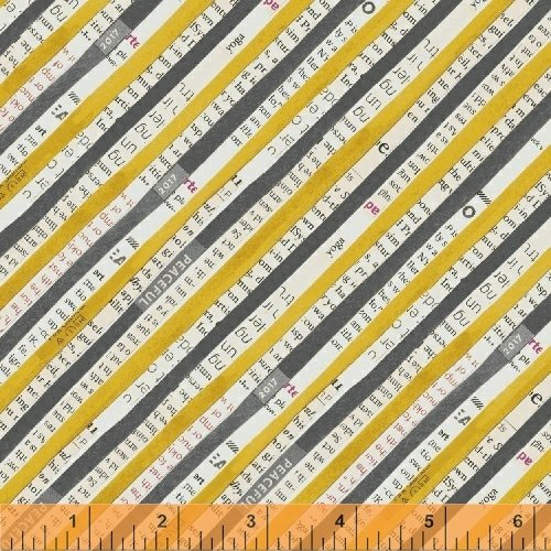 Carrie Bloomston Wonder - Stripe (Mustard)