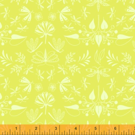 Tamara Kate - Windham Fabrics - Aerial (Chartreuse WIngspan)