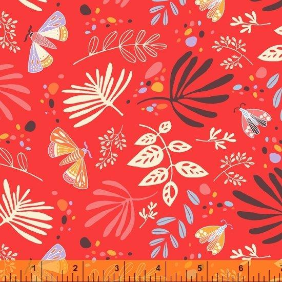 Tamara Kate - Windham Fabrics - Aerial ( Red/Orange Scatter)