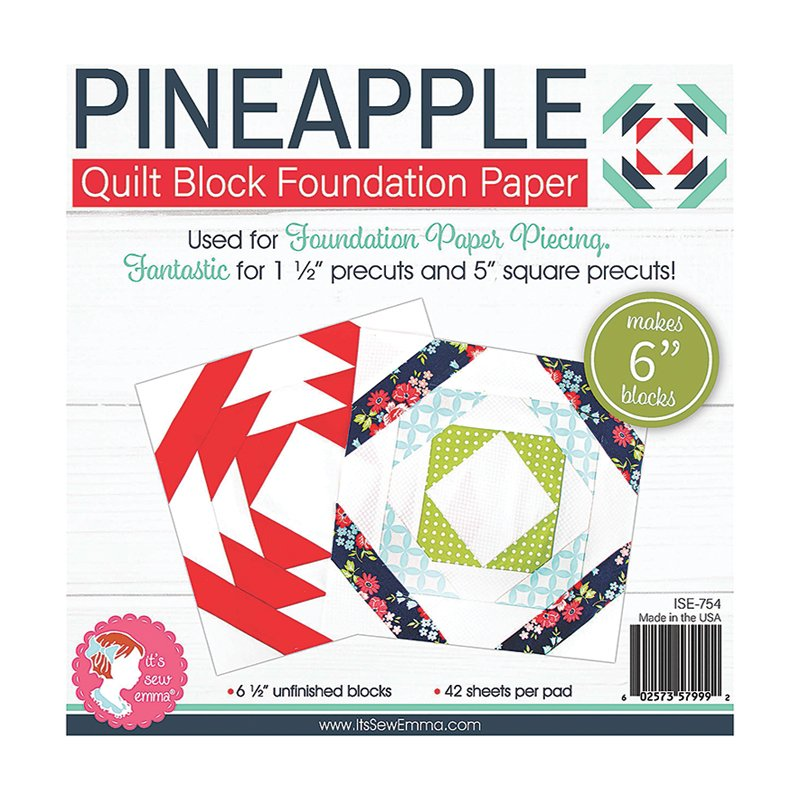 Its Sew Emma - 6 Pineapple Foundation Paper (42 sheets/pad)