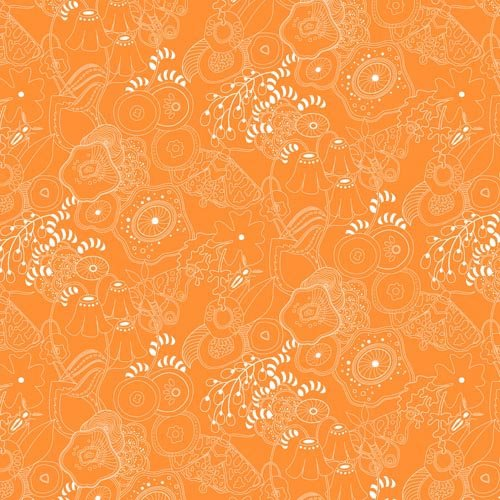Alison Glass Sun Print 2016 - Grow (Tangerine)