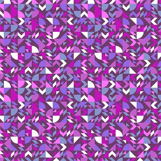 Geometric in Purple