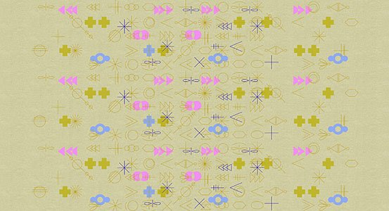 Alison Glass Adorn - Symbolic on Tailored Cloth