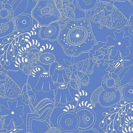 Alison Glass - Hopscotch - Grow (Bluebell)
