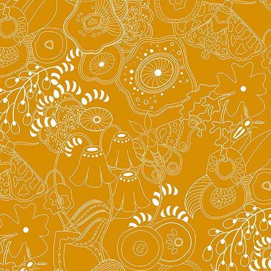 Alison Glass - Hopscotch - Grow (Butternut Squash)