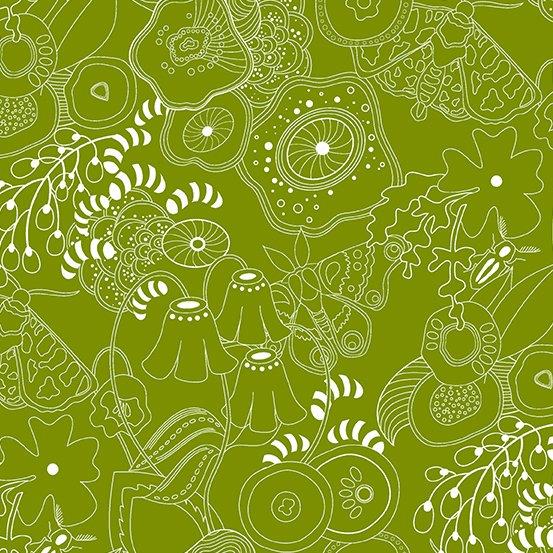 Alison Glass - Hopscotch - Grow (Guacamole)