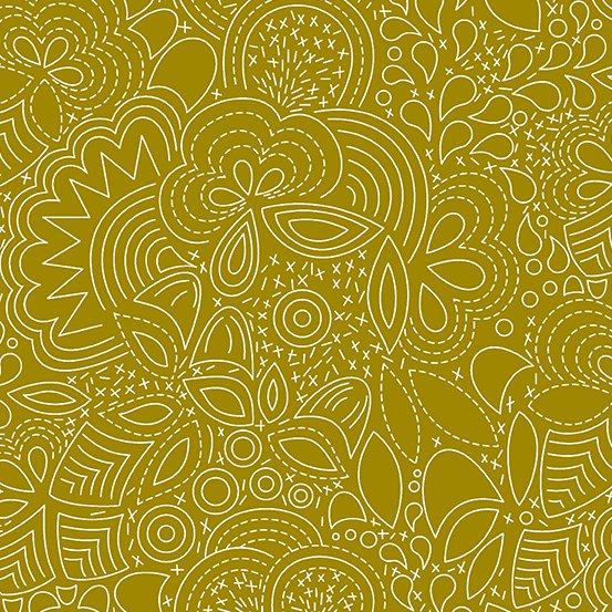 Alison Glass - Hopscotch - Stitched (Brass)