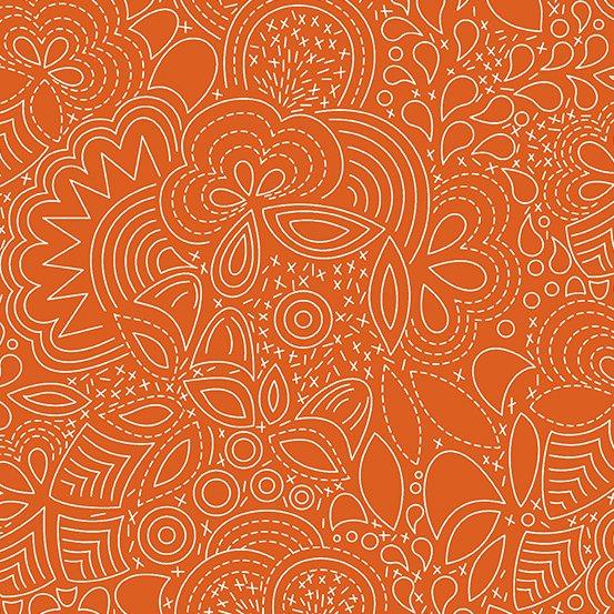 Alison Glass - Hopscotch - Stitched (Paprika)