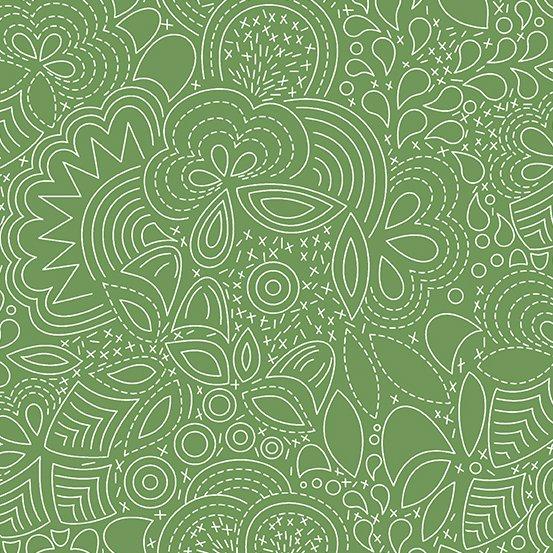 Alison Glass - Hopscotch - Stitched (Pickle)