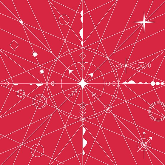 Alison Glass - Hopscotch - Compass (Strawberry)