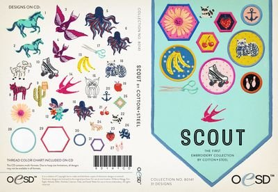 Scout by Cotton + Steel Embroidery CD