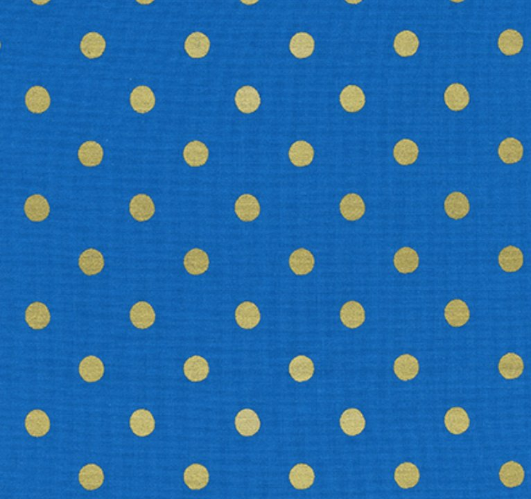 Rifle Paper Wonderland - Caterpillar Dots (Cobalt Metallic)