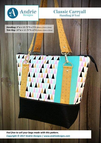 Andrie Designs - Classic Carryall Handbag & Tote