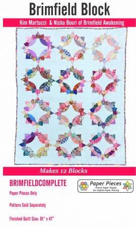 Brimfield Paper Piece Pack - 12 blocks - Star Pattern