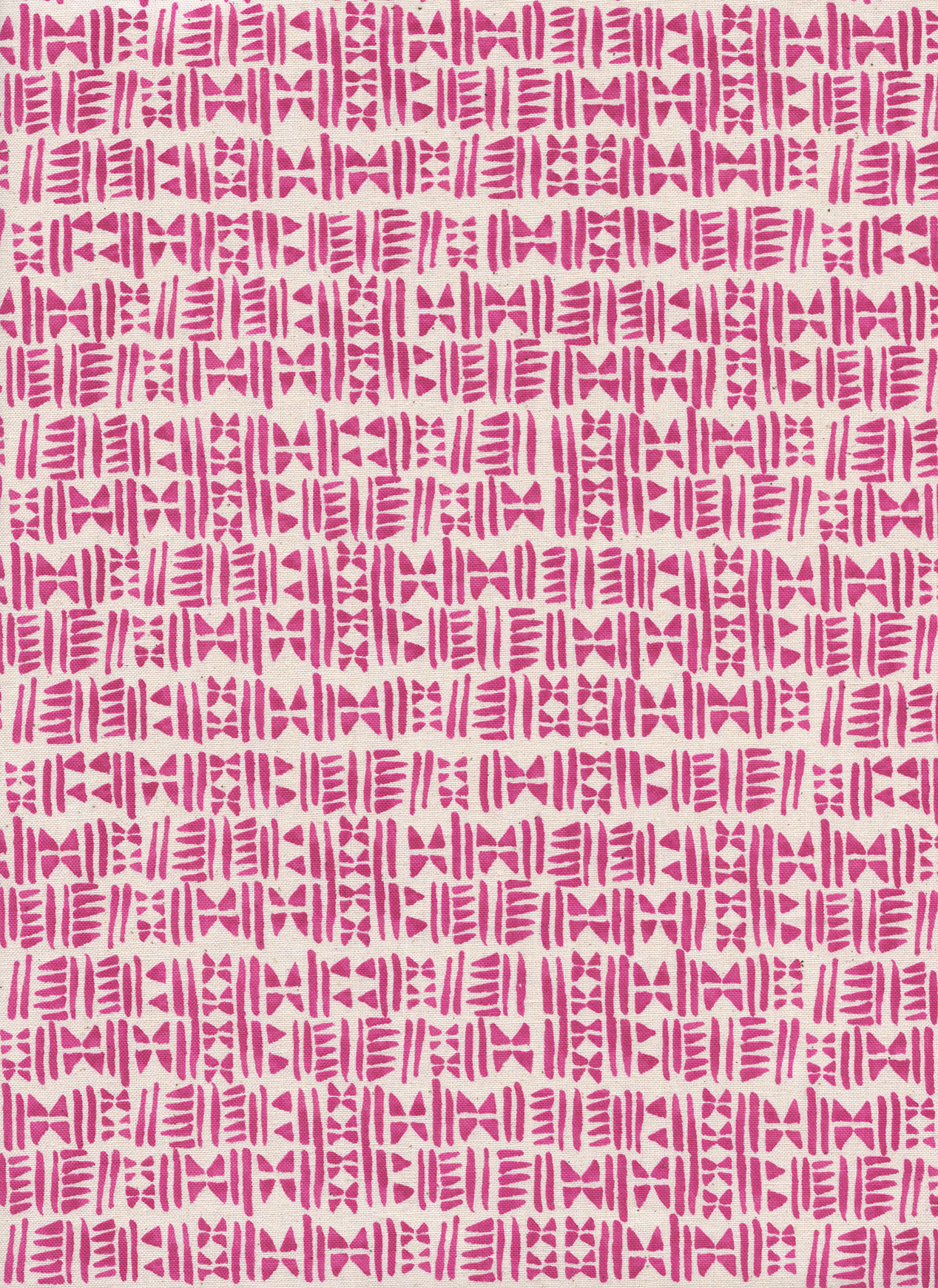 Cotton+Steel Panorama - Stamps (Hot Pink)