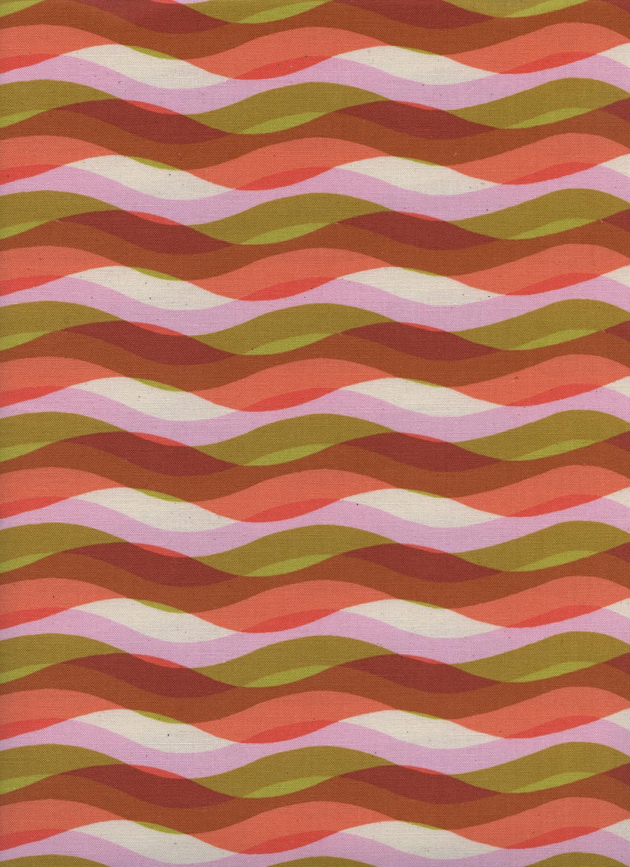 Cotton+Steel Poolside - Waves (Pink)