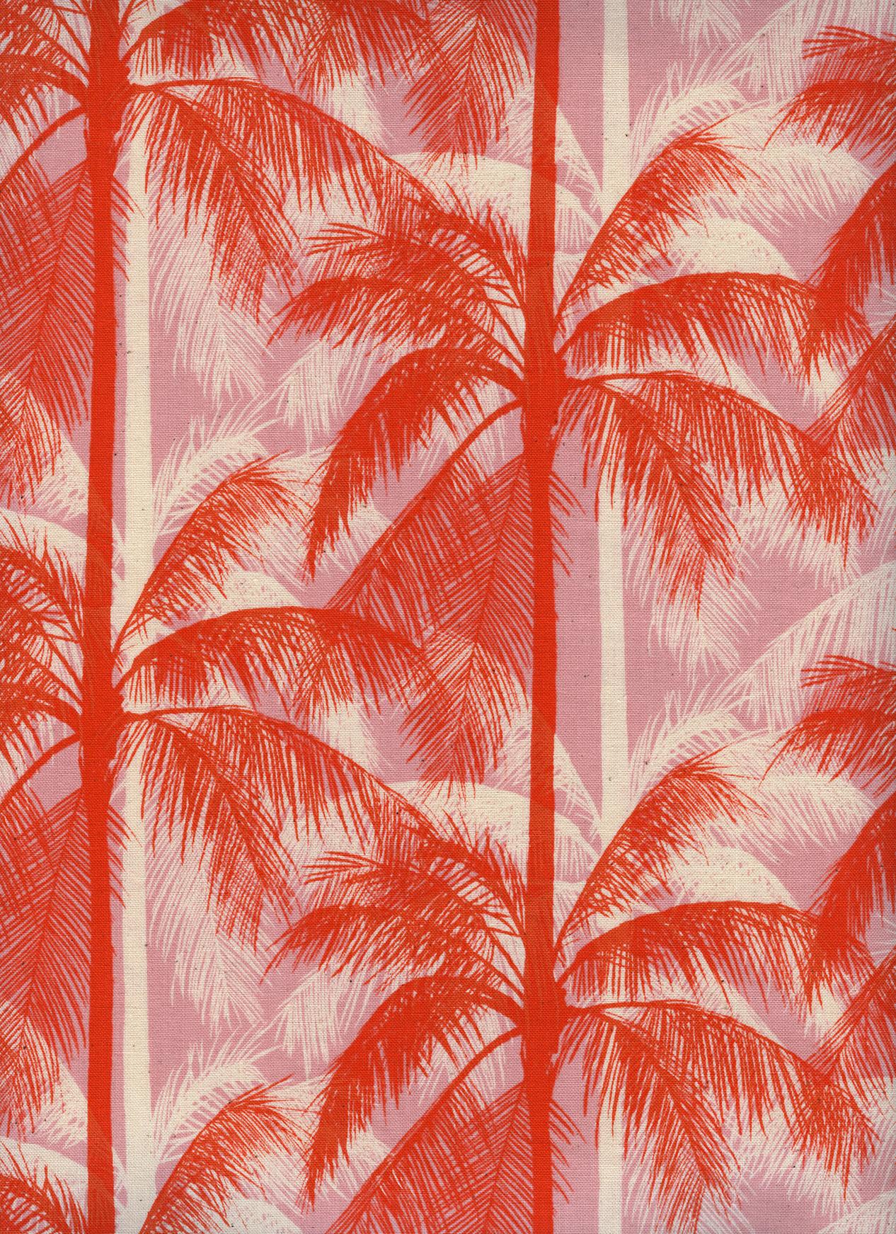 Cotton+Steel Poolside - Palms (Pink)
