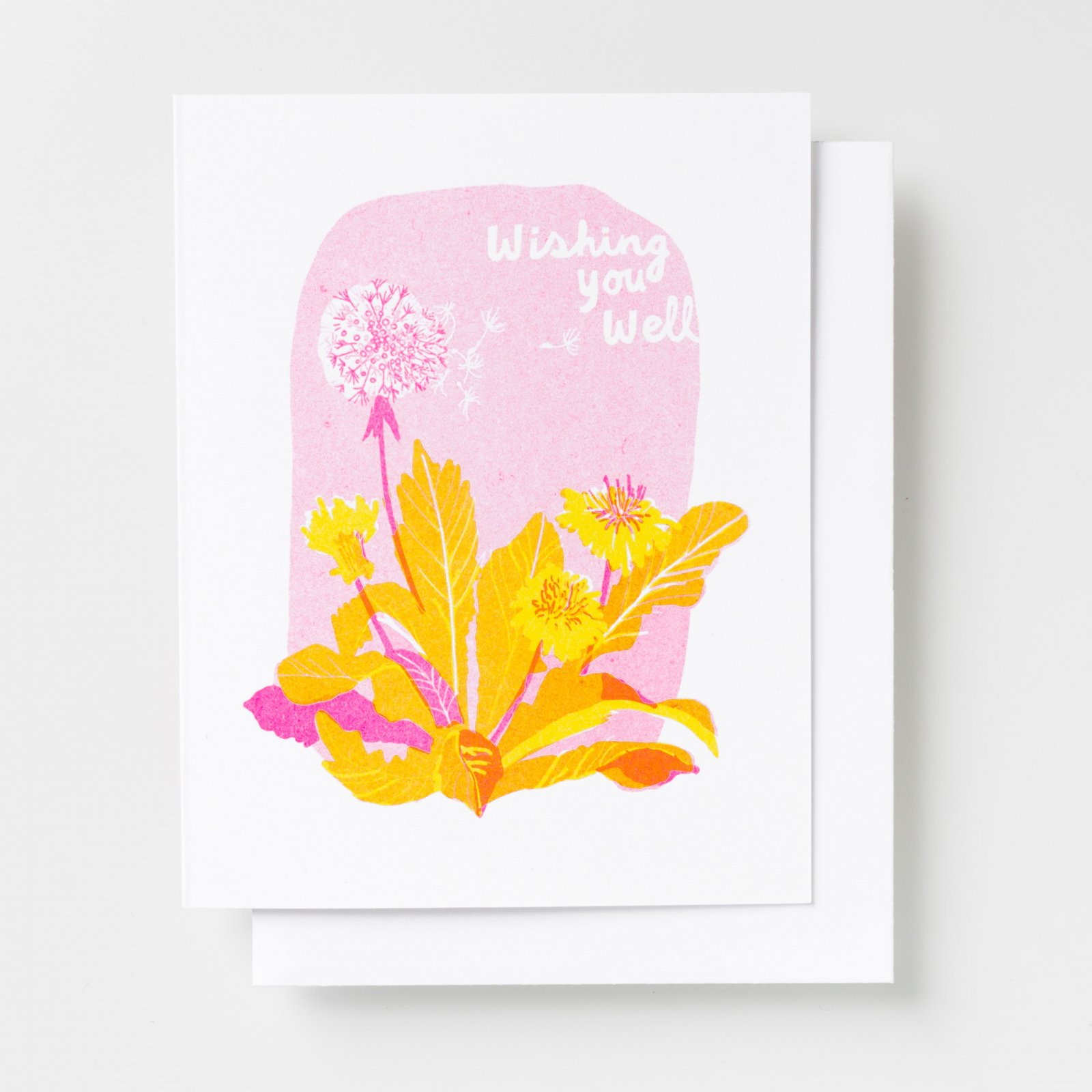 Yellow Owl Card - Wishing You Well