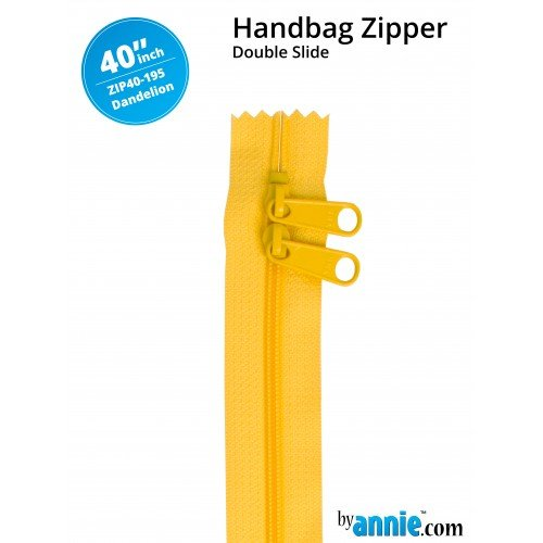 By Annie - Zippers - 40 inch Double Slide- Dandelion
