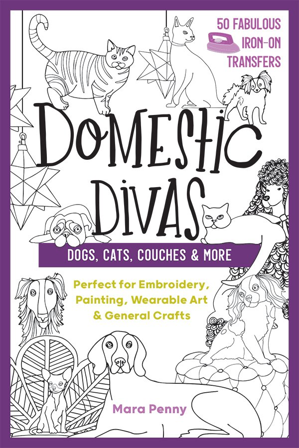 Domestic Divas 50 Iron On Transfers - Dogs, Cats, Cous=ches and More
