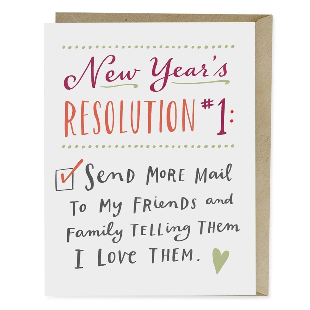 Emily McDowell - New Years Resolution Holiday Card