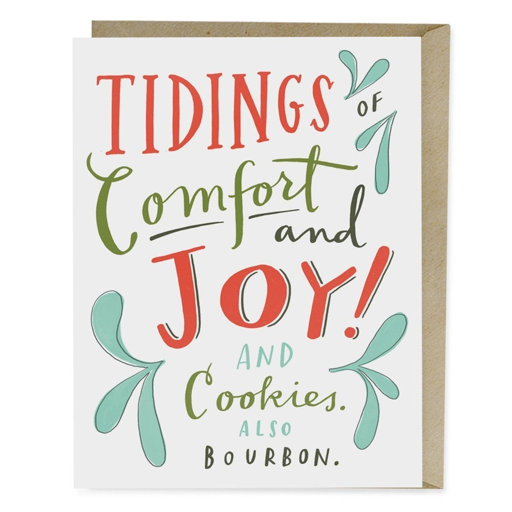 Emily McDowell - Cookies & Bourbon Holiday Card