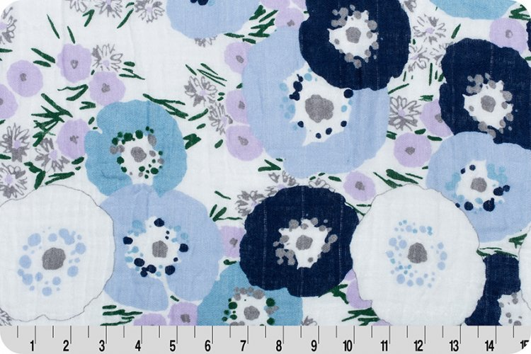 Shannon Fabrics Embrace Double Gauze - Fresh Cut (Bluebell)