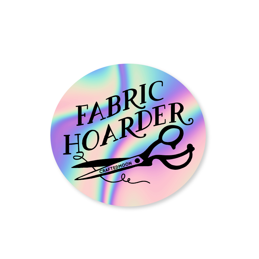 Crafted Moon -Fabric Hoarder Sticker