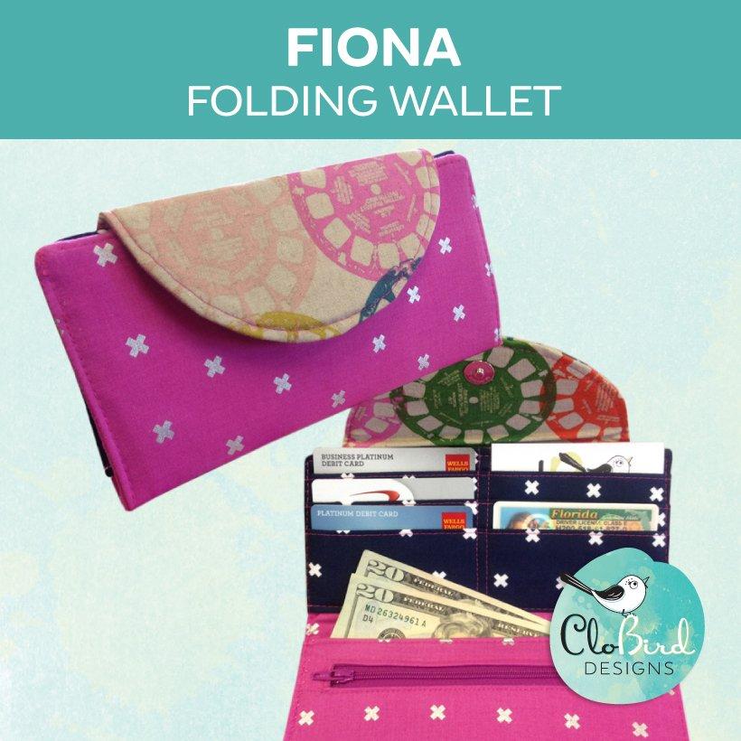 #1 Selling Fiona Folding Wallet - PDF Pattern