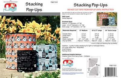 Fat Quarter  Gypsy - Stacking Pop-Up Pattern Multi Sizes