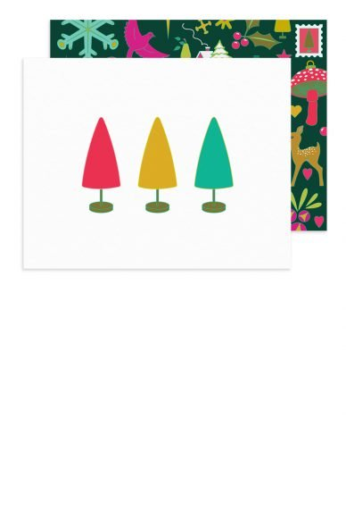 Alison Glass Holiday Trees Card