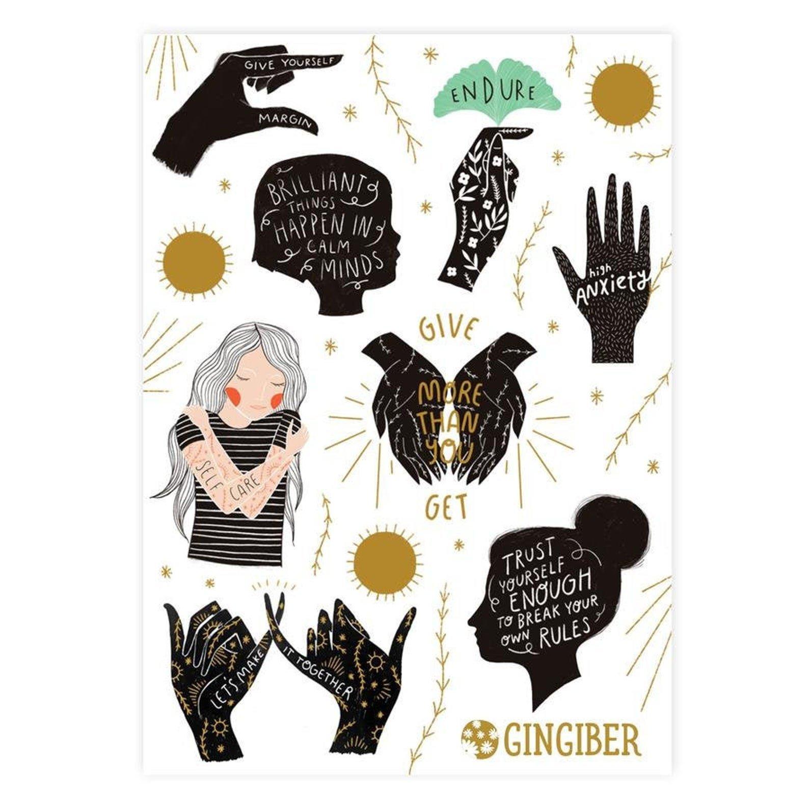 Gingiber - Sticker Sheet - Encouragement