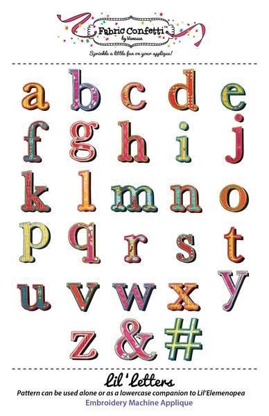 Fabric Confetti - Lil' Letters