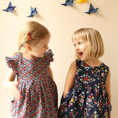 Made by Rae - Geranium Dress (Sizes 0-5T)