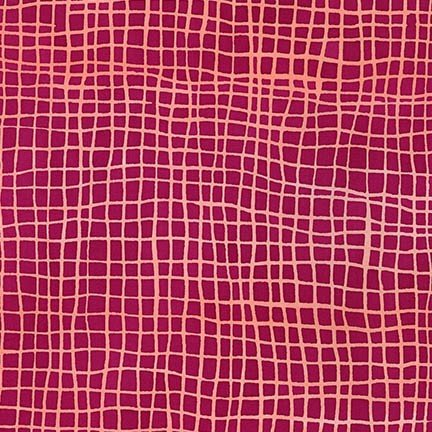 Mark to Make Batiks - Grid (Raspberry)