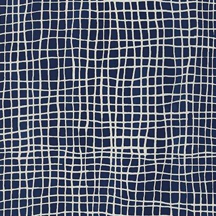 Mark to Make Batiks - Grid (Indigo)