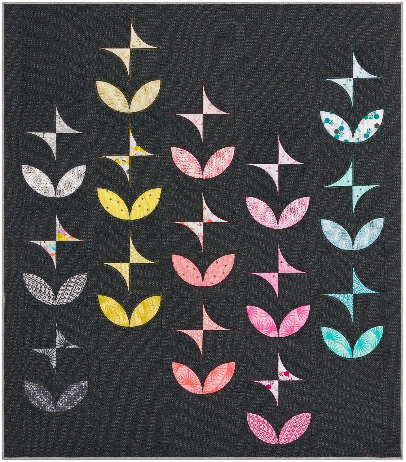 Violet Craft  - The Orange Peels + Pinwheels quilt