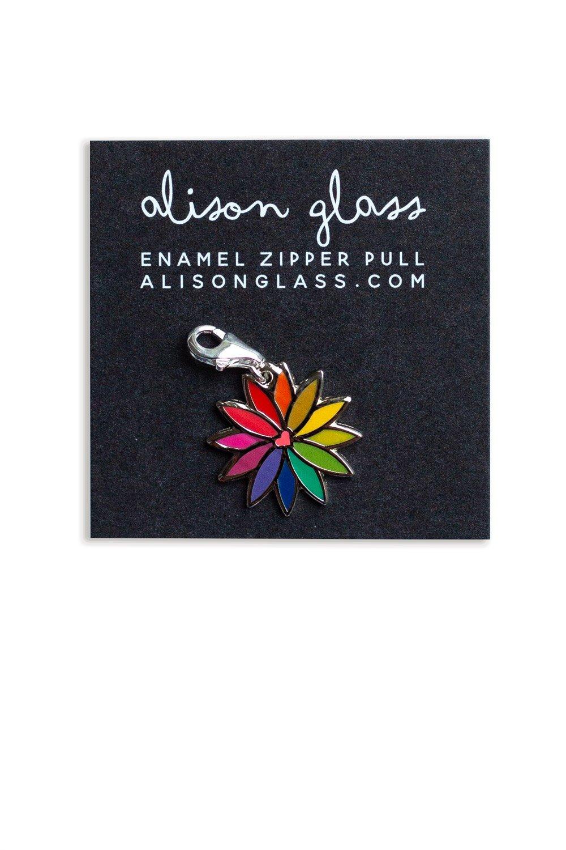 Alison Glass - RAINBOW FLOWER BAG PULL(Pink)