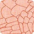 Carolyn Friedlander Polk - Homespun Linen Feathers (Orangeade)
