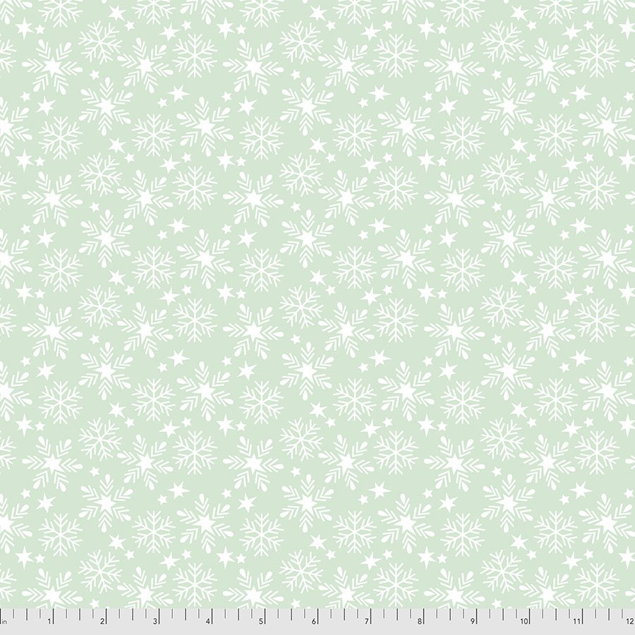 Maude Asbury - Fa La La Collection - Snowfall (Aqua)
