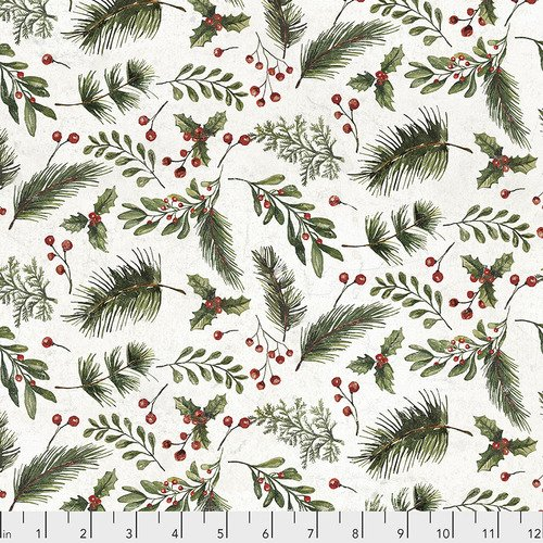 Tim Holtz - Yuletide -Festive Greens (white)