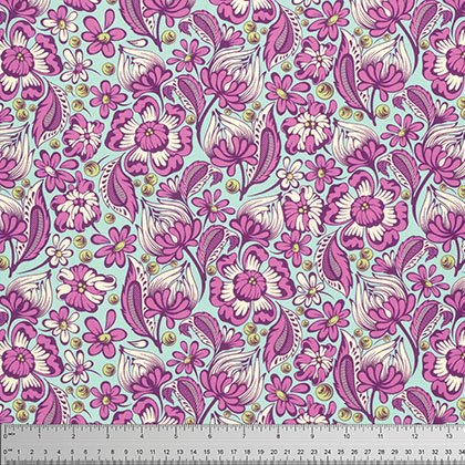 Tula Pink Chipper Collection - Wild Vines (Raspberry)