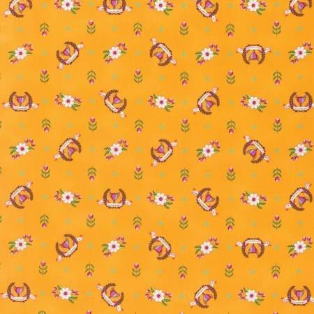 Tula Pink Slow & Steady Collection - Winners Circle (Orange Crush)