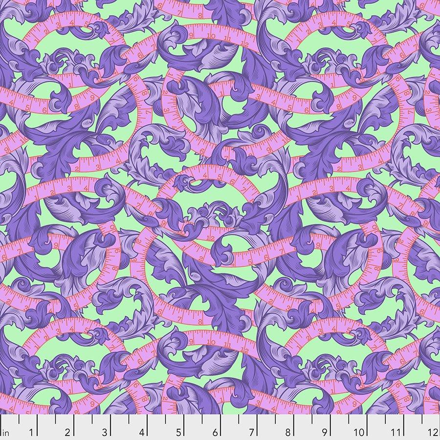 Tula Pink Homemade - Backing Fabric in Measure Twice in Night